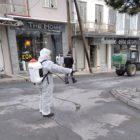 Απολυμάνσεις εξωτερικών δημόσιων χώρων από τον δήμο Αμυνταίου (pics)