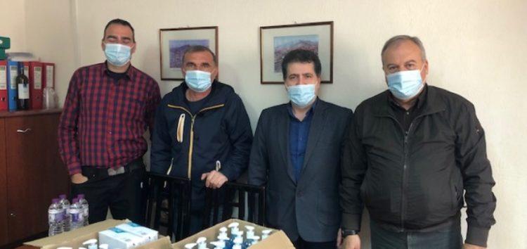 Δωρεά μασκών και αντισηπτικών από τον πρώην δήμαρχο Αμυνταίου Μάκη Ιωσηφίδη (pics)
