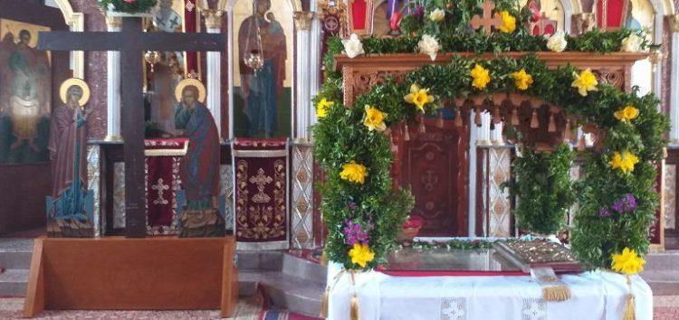 Ο επιτάφιος του Ιερού Ναού Αγίου Σπυρίδωνα Αχλάδας (video, pics)