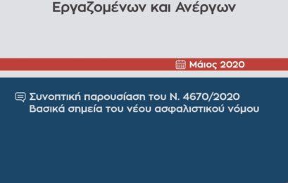 Συνοπτική παρουσίαση του Ν. 4670/2020 – Βασικά σημεία του νέου ασφαλιστικού νόμου