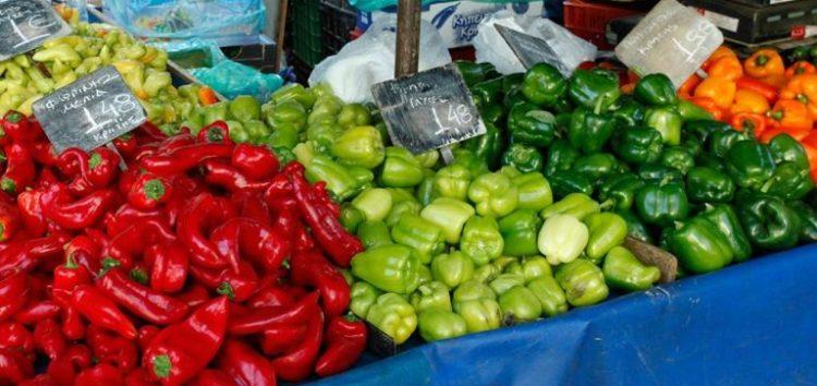 Οι συμμετέχοντες πωλητές στη λαϊκή αγορά επί των οδών Λ. Μόδη – Κ. Κώττα – Ταγμ. Σωτηρίου και Αμύντα