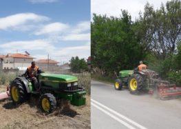 Καθαρισμός εξωτερικών χώρων – δημοτικών πάρκων από τον δήμο Αμυνταίου (pics)