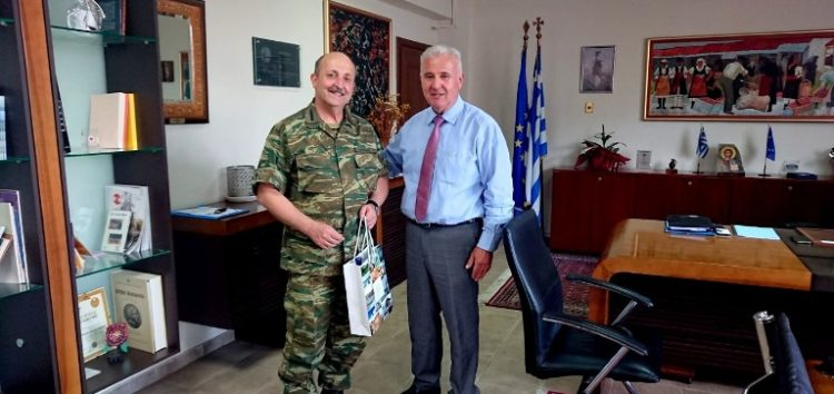 Συνάντηση εθιμοτυπίας του αντιπεριφερειάρχη Φλώρινας με τον Διοικητή Γ' Σώματος Στρατού