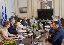 Σύσκεψη υπό τον Πρωθυπουργό Κυριάκο Μητσοτάκη για τον προγραμματισμό της μεταλιγνιτικής περιόδου