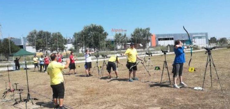 Τρεις αθλητές της Σκοπευτικής Αθλητικής Λέσχης Φλώρινας σε αγώνα τοξοβολίας ανοιχτού χώρου  στην Πιερία