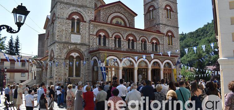 Η Αρχιερατική Θεία Λειτουργία στον πανηγυρίζοντα Μητροπολιτικό Ναό Αγίου Παντελεήμονα Φλώρινας (video, pics)