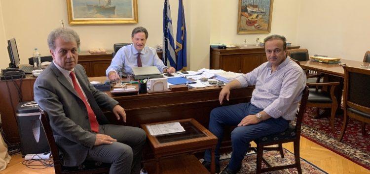 Συνάντηση του Γιάννη Αντωνιάδη με τον υφυπουργό οικονομικών Θ. Σκυλακάκη για το θέμα της διάθεσης καυσόξυλων