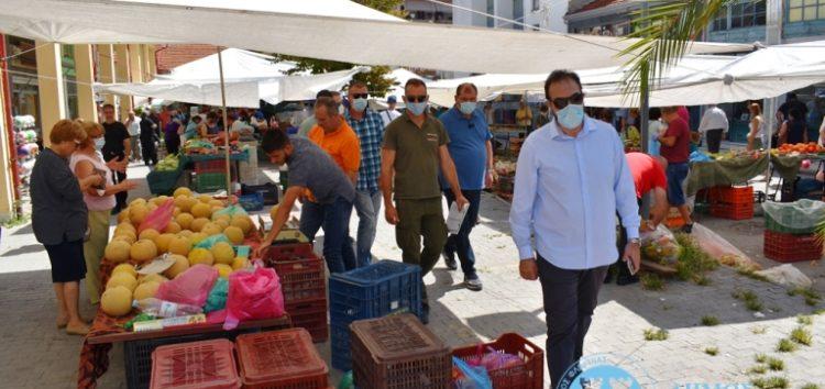 Τη λαϊκή αγορά επισκέφτηκε ο Δήμαρχος Φλώρινας Βασίλης Γιαννάκης (pics)