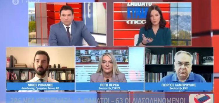 Π. Πέρκα: «Η κυβέρνηση ξεχνάει πως πέρα από την ατομική ευθύνη υπάρχει και η ευθύνη της πολιτείας» (video)