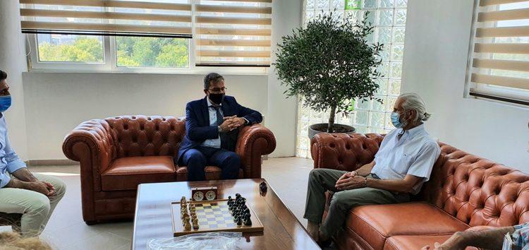 Συνάντηση εργασίας του Πρύτανη του Πανεπιστημίου Δυτικής Μακεδονίας Θεόδωρου Θεοδουλίδη με τον καθηγητή του Πανεπιστημίου του Κεντάκυ Νικηφόρο Σταματιάδη