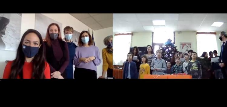 Διαδικτυακά κάλαντα στην Υφυπουργό Δόμνα Μιχαηλίδου από τα παιδιά του Κέντρου Κοινωνικής Πρόνοιας (video, pics)