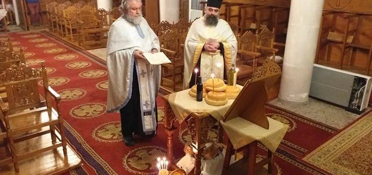 Κεκλεισμένων των θυρών εορτάστηκε ο Άγιος Σπυρίδωνας στην Αχλάδα (video, pics)