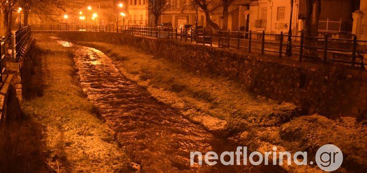 Οι πρώτες εικόνες από τη χιονόπτωση στη Φλώρινα (pics)