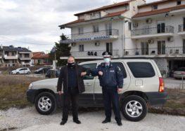 Προσφορά οχήματος στη Διεύθυνση Αστυνομίας Φλώρινας από τον Τάσο Χατζηχρήστο
