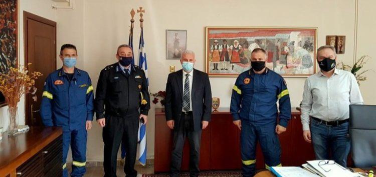 Εθιμοτυπική επίσκεψη του νέου Διοικητή της Περιφερειακής Πυροσβεστικής Διοίκησης Δυτικής Μακεδονίας και του νέου Συντονιστή Πυροσβεστικών Υπηρεσιών Ηπείρου, Δυτικής Μακεδονίας και Ιονίων Νήσων στον Αντιπεριφερειάρχη Φλώρινας