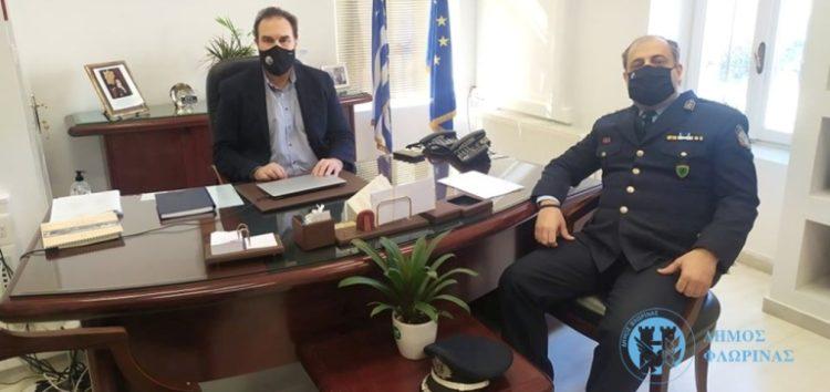Συνάντηση του Δημάρχου Φλώρινας με τον νέο Αστυνομικό Διευθυντή Φλώρινας