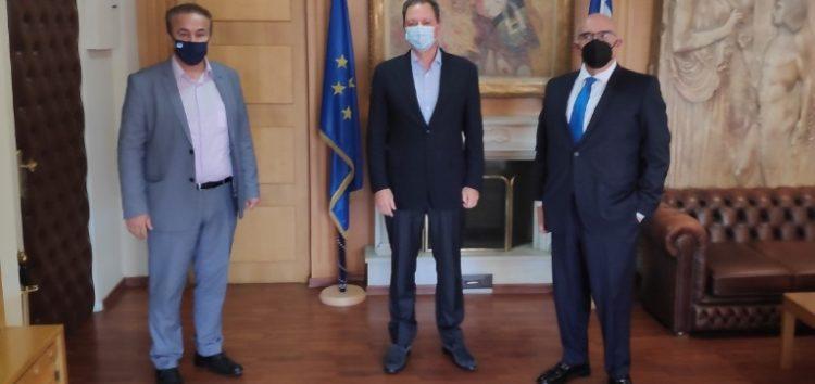 Συνάντηση του βουλευτή Γ. Αντωνιάδη με τον υπουργό Αγροτικής Ανάπτυξης και Τροφίμων Σπ. Λιβανό