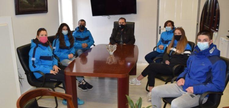 Συνάντηση του Δημάρχου Φλώρινας με τους αθλητές και αθλήτριες του Α.Ο.Φ. που θα συμμετέχουν στο Παγκόσμιο Πρωτάθλημα Βορείων Αγωνισμάτων Χιονοδρομίας