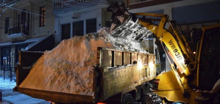 Ξεκίνησε η διαδικασία απομάκρυνσης του χιονιού στην πόλη της Φλώρινας (pics)