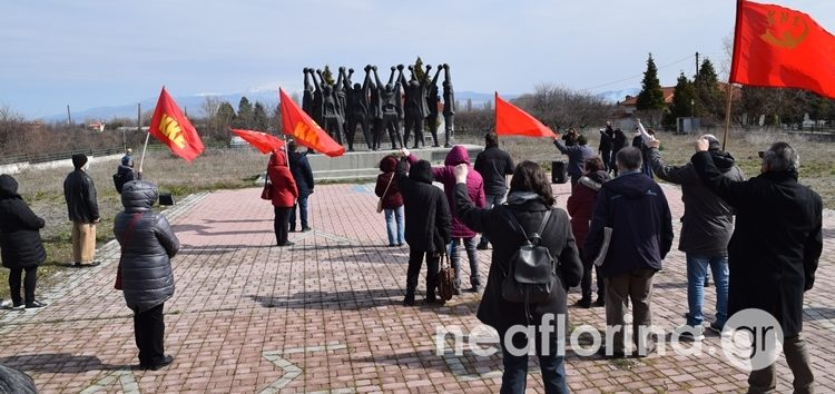 Η εκδήλωση του ΚΚΕ για τη Μάχη της Φλώρινας στο μνημείο – ομαδικό τάφο των μαχητών του ΔΣΕ (video, pics)