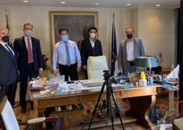 Συνάντηση του Γ. Αντωνιάδη και βουλευτών της Δυτικής Μακεδονίας με τον Άδωνι Γεωργιάδη για ενίσχυση επαγγελματιών που πλήττονται από covid19 και lockdown