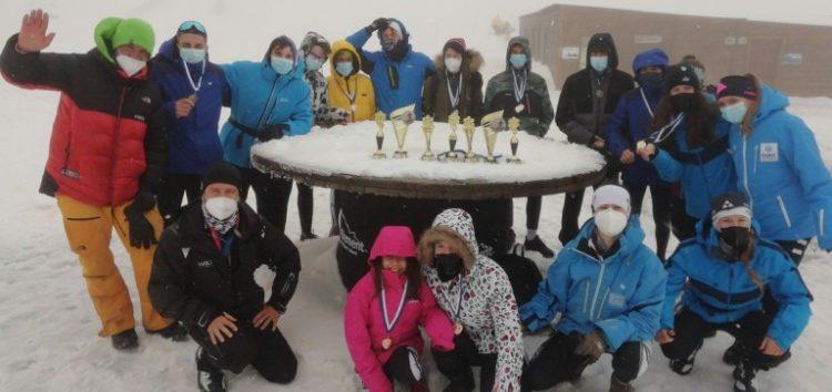 7 κύπελλα και 23 μετάλλια για τον ΑΟΦ στο Πανελλήνιο Πρωτάθλημα Χιονοδρομίας