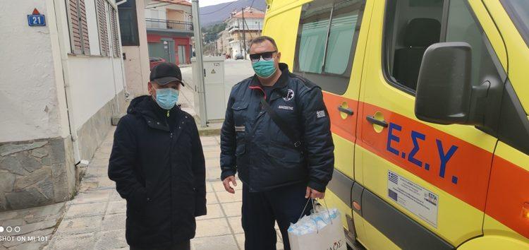 Ευχαριστήριο του Εργασιακού Σωματείου ΕΚΑΒ Δυτικής Μακεδονίας για δωρεά μέσων ατομικής προστασίας στο ΕΚΑΒ Φλώρινας