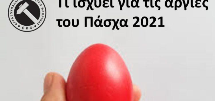 Τι ισχύει για τις αργίες του Πάσχα 2021