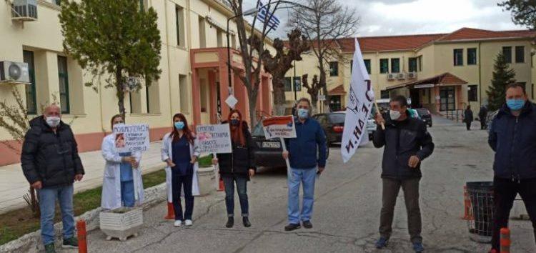 Συμβολική παρέμβαση – διαμαρτυρία του Συλλόγου Εργαζομένων Νοσοκομείου Φλώρινας για την Παγκόσμια Ημέρα Υγείας (pics)