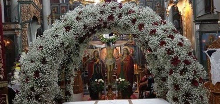 Ο επιτάφιος στον Ιερό Ναό Κοιμήσεως της Θεοτόκου Φλαμπούρου