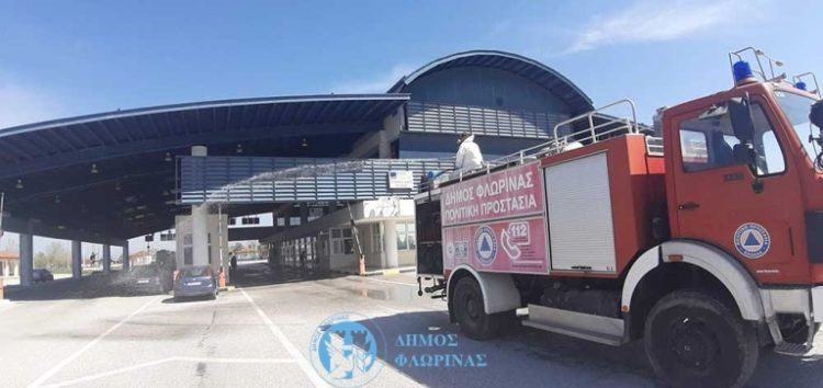 Απολυμάνσεις εξωτερικών κοινόχρηστων χώρων και σημείων στις κοινότητες του Δήμου Φλώρινας (pics)