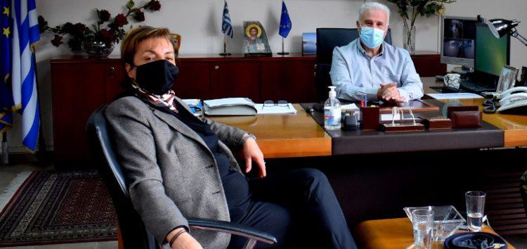Συνάντηση του Αντιπεριφερειάρχη Φλώρινας Ιωάννη Κιοσέ με την Πρόεδρο του Αγροτικού Συλλόγου Δήμου Αμυνταίου Διαμάντω Κρητικού