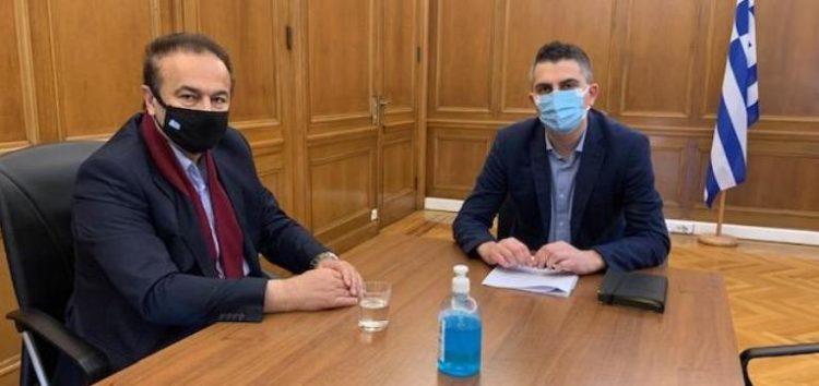 Συνάντηση του Γ. Αντωνιάδη με τον υφυπουργό Ανάπτυξης και Επενδύσεων Χρ. Δήμα