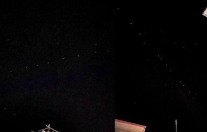 Οι δορυφόροι Starlink ορατοί και στη Φλώρινα (pics)