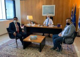 Συνάντηση των βουλευτών Γ. Αντωνιάδη και Ζ. Τζηκαλάγια με τον πρόεδρο του ΕΛΓΑ για τις αποζημιώσεις στις δενδροκαλλιέργειες