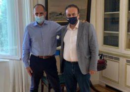 Συνάντηση του Γ. Αντωνιάδη με τον υπουργό Επικρατείας Γ. Γεραπετρίτη