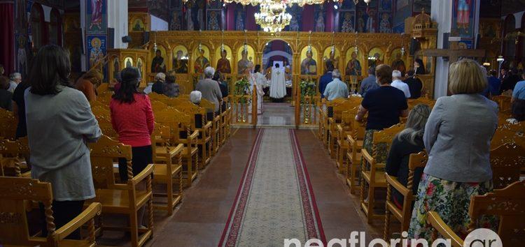 Ο πανηγυρικός Εσπερινός του Αγίου Αγαθαγγέλου στη Φλώρινα (pics)