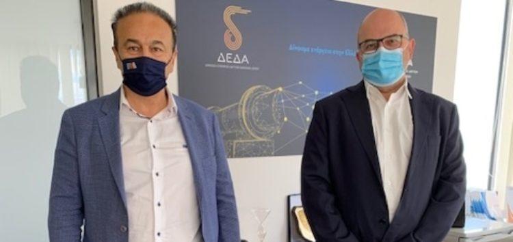 Συνάντηση του Γ. Αντωνιάδη με τον Διευθύνοντα Σύμβουλο της ΔΕΔΑ Μ. Τσάκα για την έλευση του φυσικού αερίου