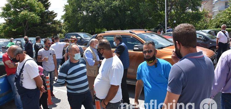Διαμαρτυρία των αγροτών του Αμυνταίου για τις αποζημιώσεις (video, pics)