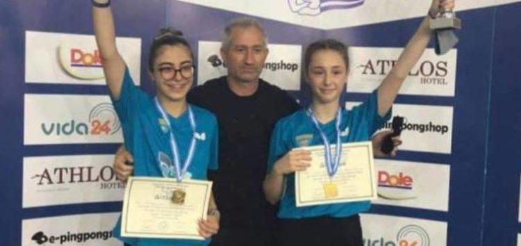 Η Χρυσή Φωτιάδου πρωταθλήτρια Ελλάδας στις νεάνιδες – Πρώτη θέση και στο διπλό για Φωτιάδου και Άμπα