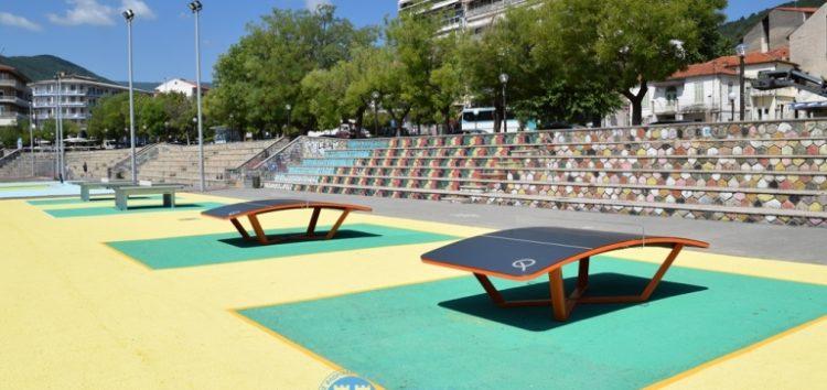 Τραπέζια αθλημάτων και όργανα γυμναστικής από τον Δήμο Φλώρινας στο Νέο Δημοτικό Πάρκο (pics)