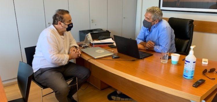Συνάντηση του βουλευτή Γιάννη Αντωνιάδη με τον Κωστή Μουσουρούλη για το πρόγραμμα δίκαιης μετάβασης