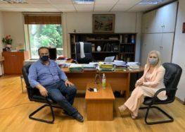 Συνάντηση του βουλευτή Γ. Αντωνιάδη με την υπ. Γραμματέα του ΥΠ.ΕΣ. για θέματα της κοινότητας Τροπαιούχου