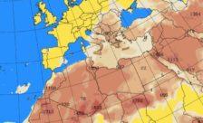 Ευνοείται η μεταφορά σκόνης από την Αφρική λόγω των μετεωρολογικών συνθηκών