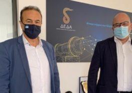 Συνάντηση του Γ. Αντωνιάδη με τον Διευθύνοντα Σύμβουλο της ΔΕΔΑ Μ. Τσάκα για το φυσικό αέριο στη Φλώρινα