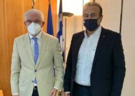Συνάντηση του Γ. Αντωνιάδη με τον πρόεδρο του ΕΛΓΑ για τις αποζημιώσεις στα βιολογικά φασόλια