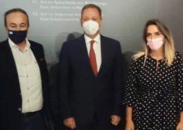 Συνάντηση των βουλευτών Φλώρινας Γ. Αντωνιάδη και Π. Πέρκα με τον υπουργό Αγροτικής Ανάπτυξης και Τροφίμων Σπήλιο Λιβανό